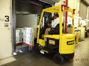 Forklift at DSW Distribution Centers